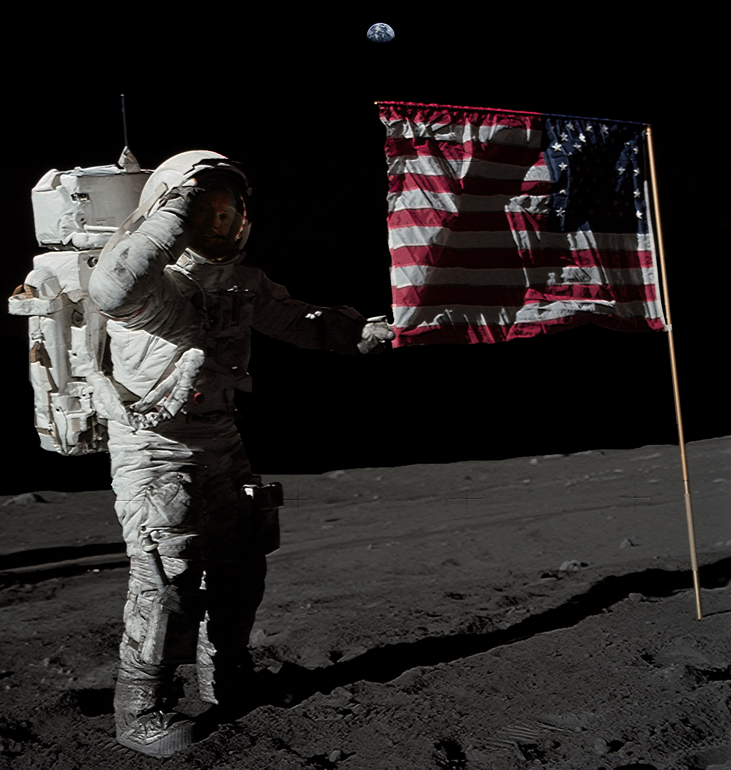 neil armstrong on the moon 1969 - photo #11