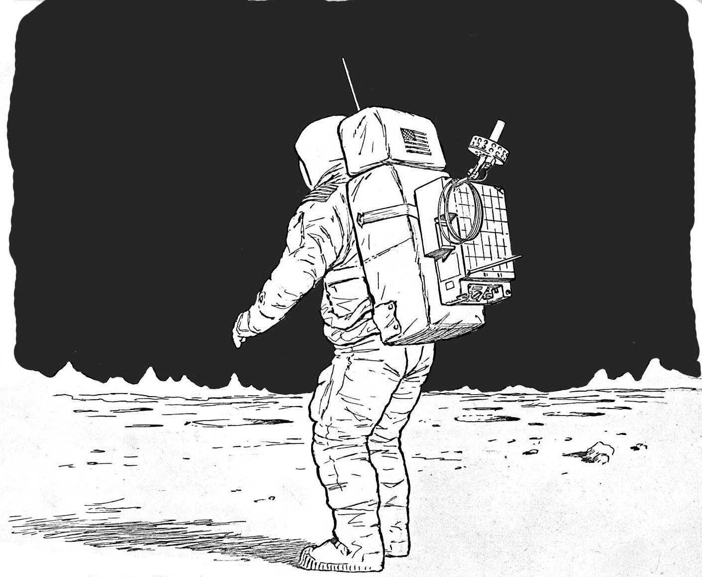 Astronaut On the Moon Drawing - Pics about space