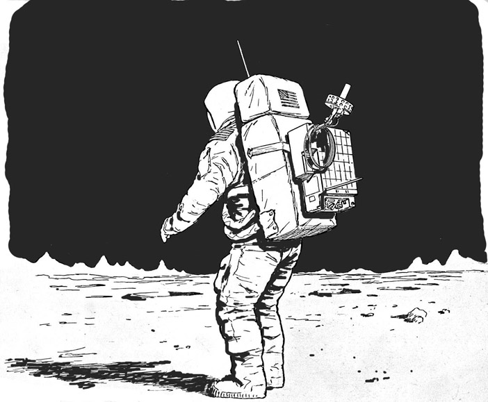 detailed drawings of astronauts - photo #25