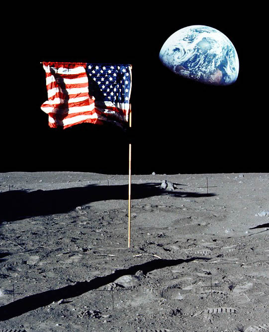 ... two Apollo 11 composites called Flag and Earth and Where to Park