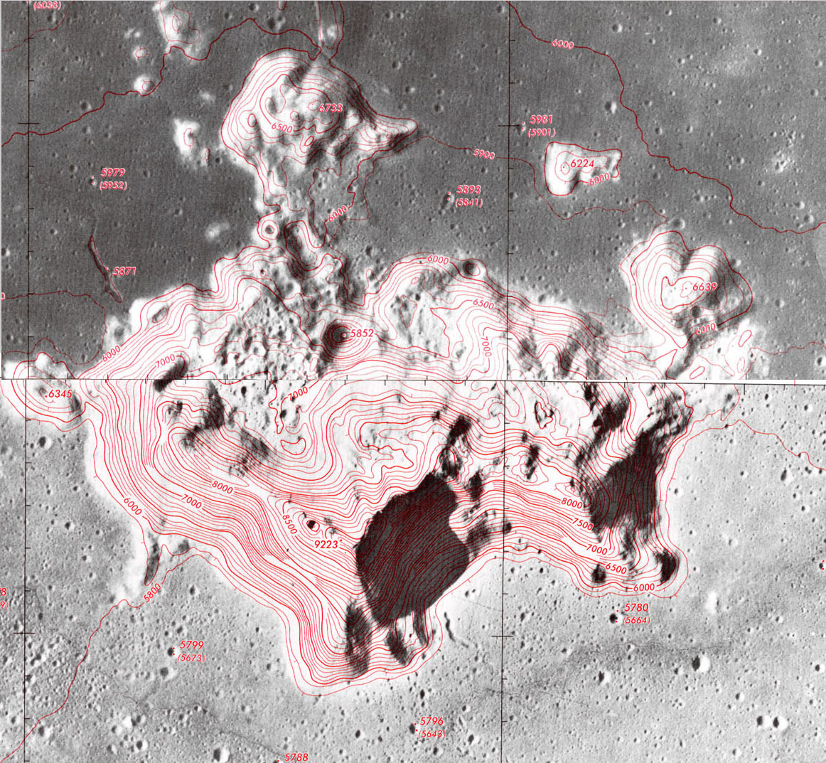 Lunar Topographic Orthophotomaps U S Defense Mapping Agency