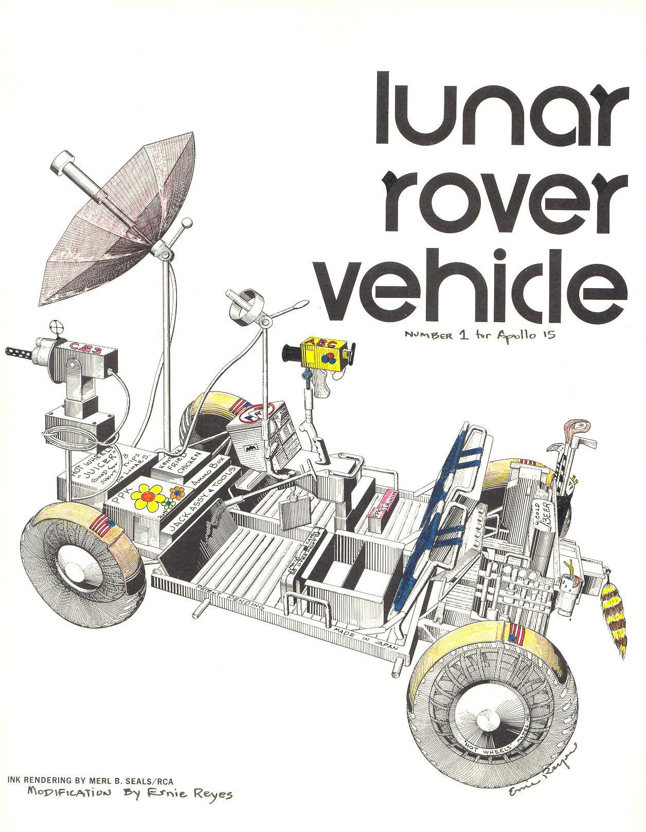 Deploying The Lunar Roving Vehicle Rover Engine Diagram Ernie Reyes Drawing Of A Properly Configured