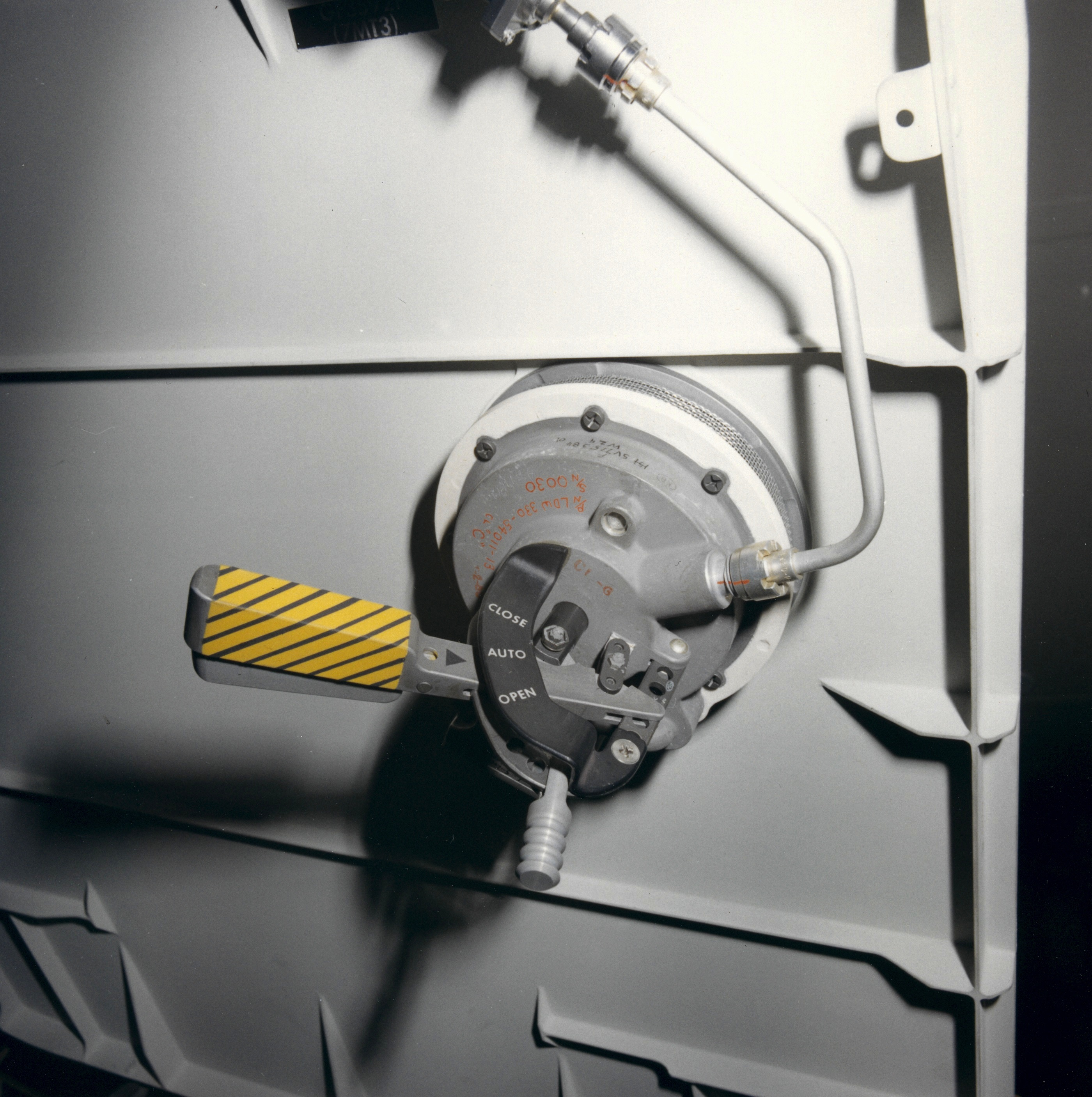 Lm 11 Orion Close Out Photos The Central Wiring Panel Cwp Chapter 1 6 Forward Hatch Pressure Relief Valve