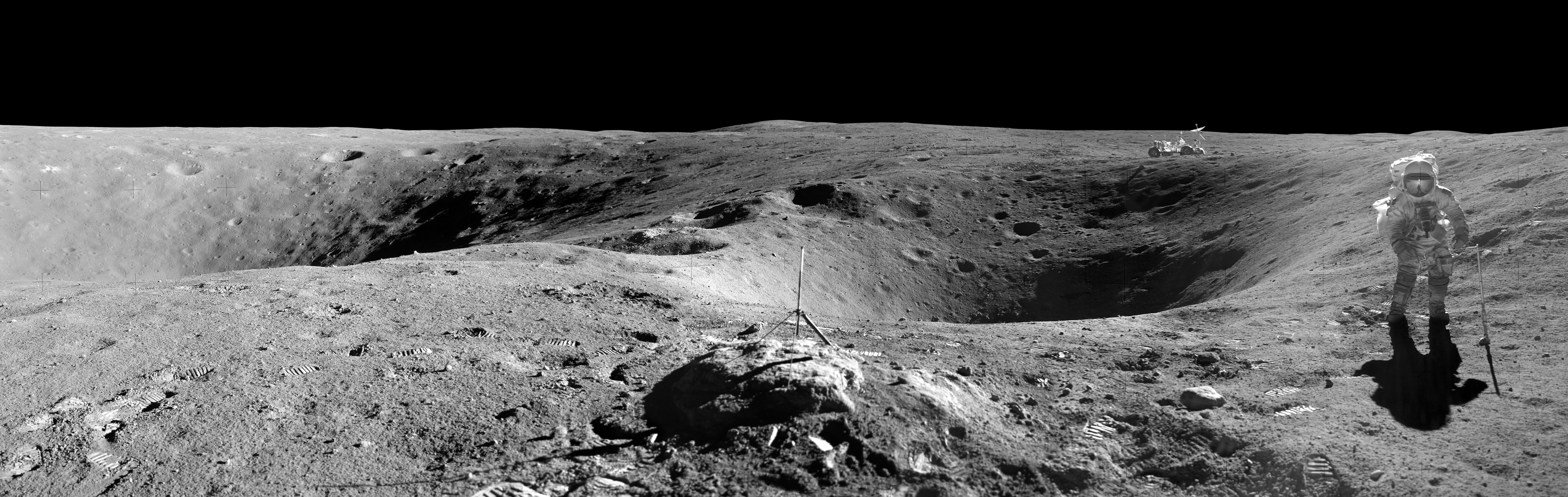 lunar landscape looking at earth - photo #39