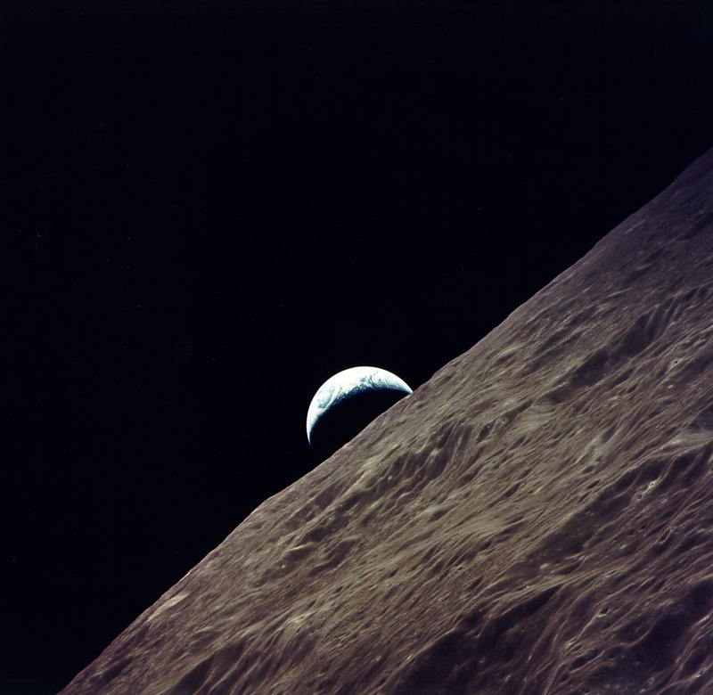 earthrise from moon apollo - photo #33