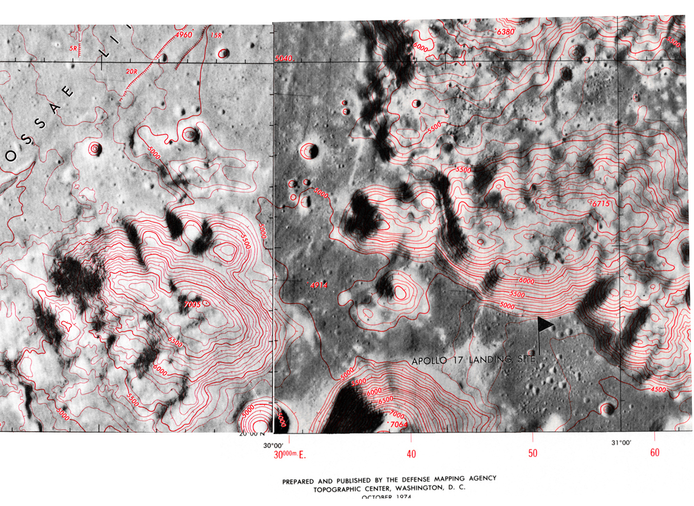West Family Mountain And The Valley Of Taurus Littrow