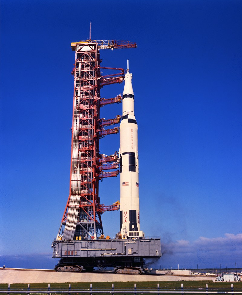 Saturn V in Rollout