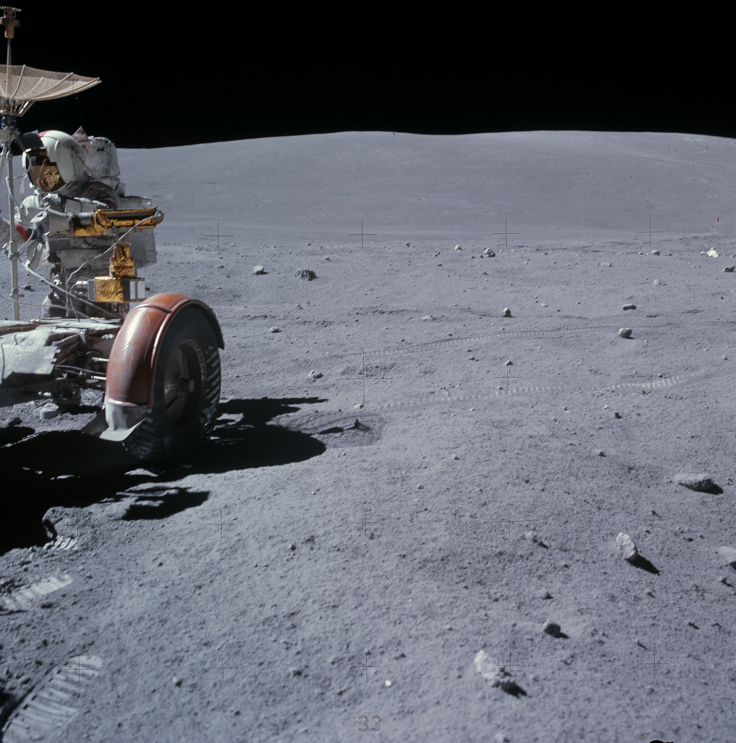 Apollo 16 north pole images The Moon - Solar System
