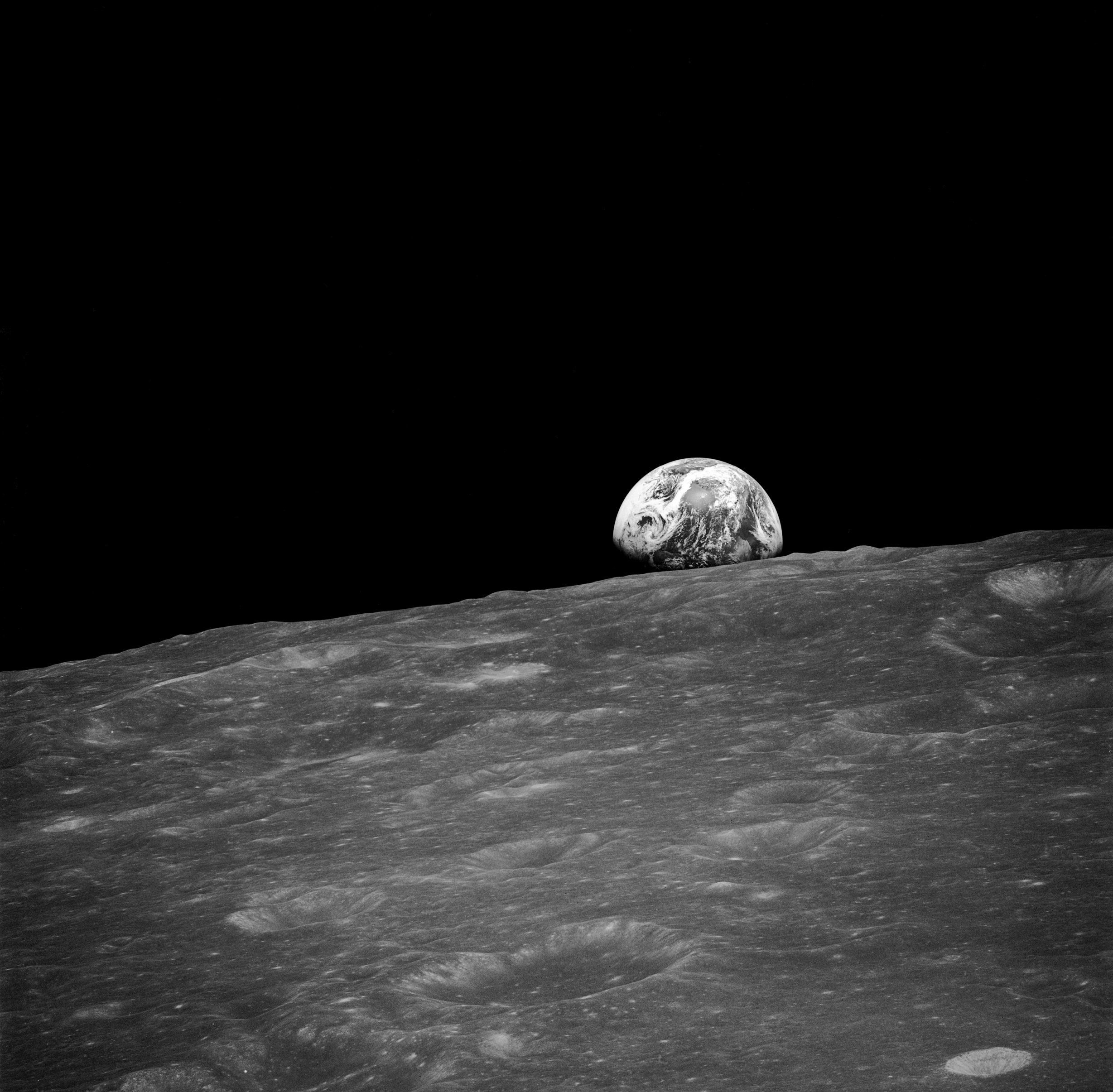 The first earthrise ever seen directly by humans - Our Planet