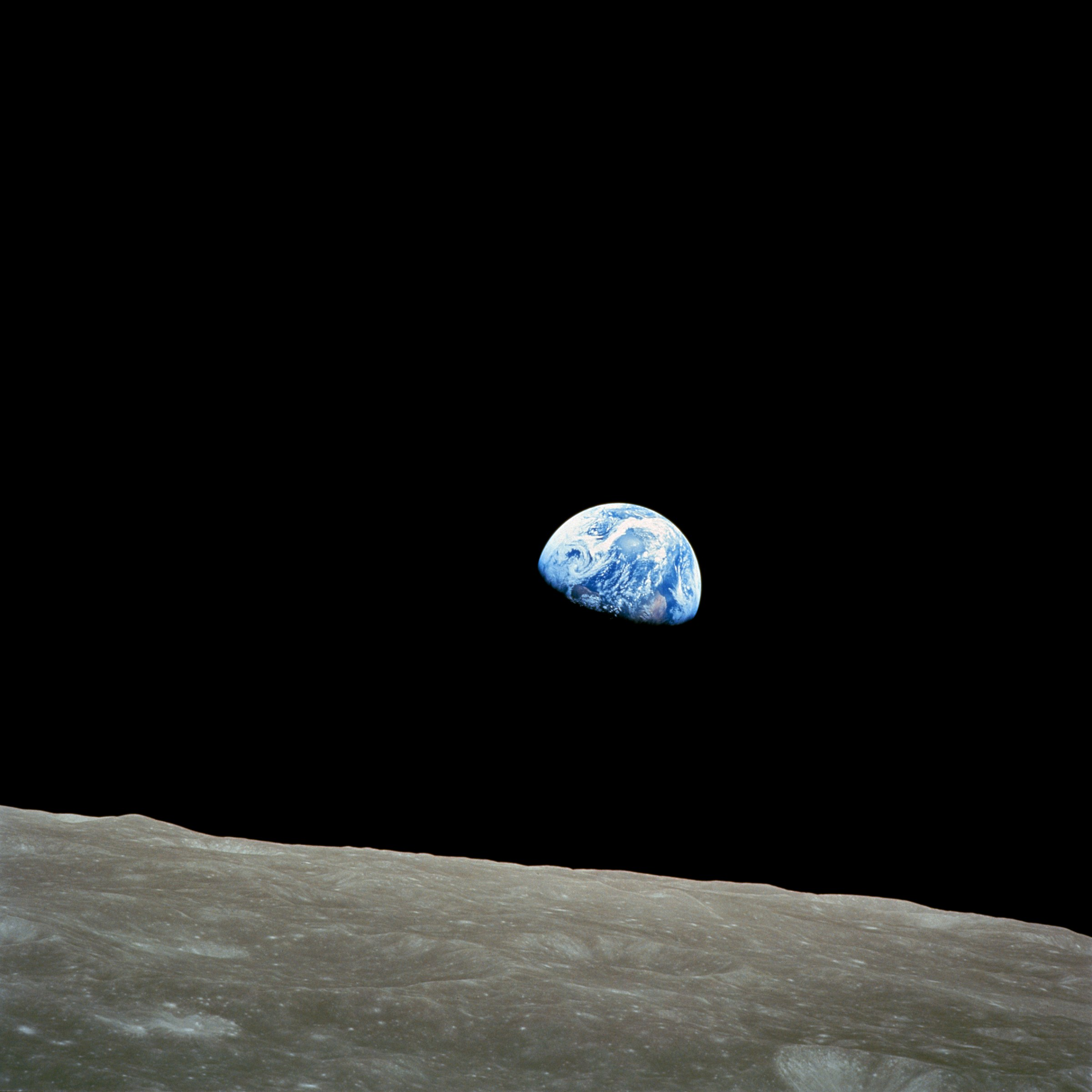 Astronaut William Anders took this picture on December 24th, 1968, during the Apollo 8 mission