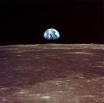 Earthrise from Apollo 11, before the Moon landing