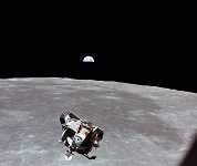 Apollo 11 Ascent Stage of LM Eagle in Lunar Orbit